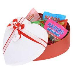Boîte Coeur Haribo Red Large