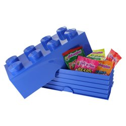 Box Surpriz Lego pleine de bonbons (brick 4x2, bleu)