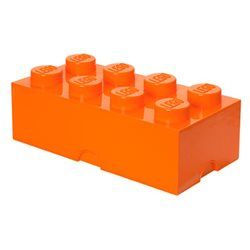 Box Surpriz Lego pleine de bonbons (brick 4x2, orange)