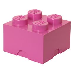 Box Surpriz Lego pleine de bonbons (brick 2x2, rose)