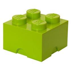Box Surpriz Lego pleine de bonbons (brick 2x2, vert anis)