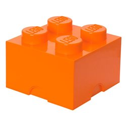 Box Surpriz Lego pleine de bonbons (brick 2x2, orange)