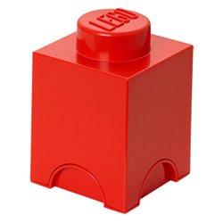 Box Surpriz Lego pleine de bonbons (brick 1x1, rouge)