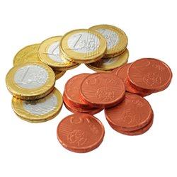 Filets de Pièces Euros en Chocolat