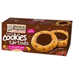 Michel et Augustin Petits Cookies Tartinés Chocolat Noir Amandes (lot de 3)
