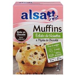 Alsa Préparation Muffins Chocolat Noisettes