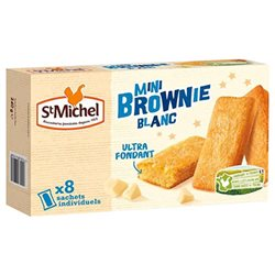 St Michel Mini Brownie Chocolat Blanc 240g (lot de 3)