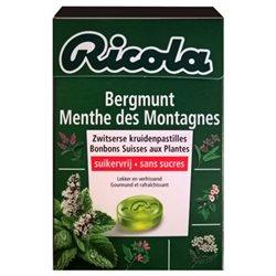 Ricola Menthe Des Montagnes (lot de 6)