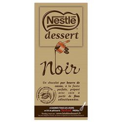 Nestlé Dessert Tablette Chocolat Noir 205g (lot de 3)