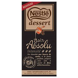 Nestlé Dessert Tablette Noir Absolu 170g (lot de 3)