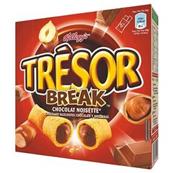 Tresor Break Barre Chocolat Noisette 130g (lot de 3)