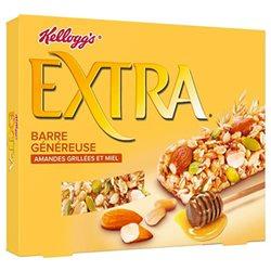 Kellogg's Extra Barre Miel et Amandes Grillées 128g (lot de 3)