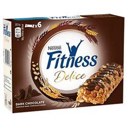 Fitness Barre Délice Chocolat Noir 135g (lot de 3)