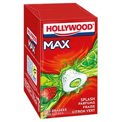 Hollywood Max Fraise Citron Vert Sans Sucres 3 Etuis (lot de 18)