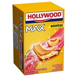 Hollywood Max Menthe Fruits Du Soleil Sans Sucres 3 Etuis (lot de 18)
