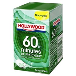 Hollywood 60 Minutes De Fraicheur Menthe Verte 3 Etuis (lot de 18)