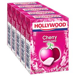 Hollywood Cherry Dragées Sans Sucres 5 Etuis (lot de 30)