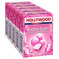 Hollywood Bubble Fresh Tutti Frutti Menthol Sans Sucres 5 Etuis (lot de 30)